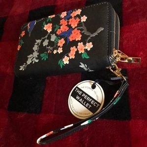Floral Double Zippered Wallet NWT